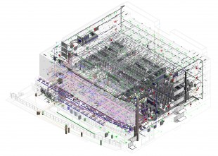 Virtual Construction Image. MEP Categories Isolated